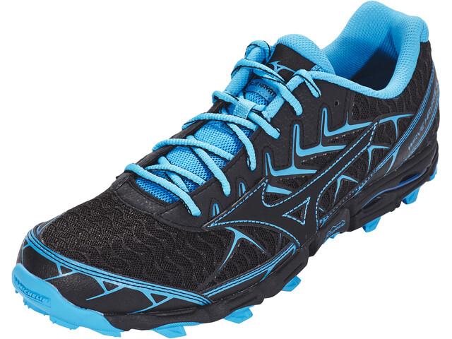 Mizuno Wave Hayate 4 Running Shoes Men black/black/blue jewel